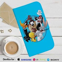 Looney Tunes All of Characters Leather Wallet iPhone 4/4S 5S/C 6/6S Plus 7…