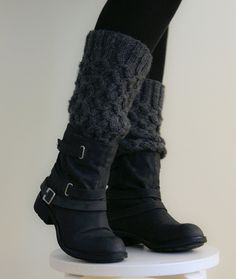 slouchy legwarmers with slouchy boots