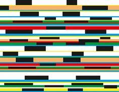 Extremer Style für wache Geister - diese verspielten Querstreifen in aktuellen Trendfarben fallen auf! Ob im Flur oder im Wohnzimmer - die stripes-10- Tapete von Vincenzo Sguera wirkt heiter und verpasst Ihrer Wand einen extravaganten Look. .