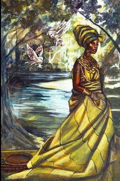 "Oshun Goddess of love, beauty, passion and art""by Stephen Hamilton"