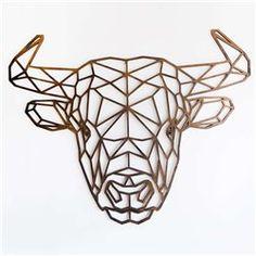 Geometric Drawing, Geometric Wall, Taurus Bull Tattoos, Happy Birthday Decor, Cow Tattoo, Tape Painting, Tape Art, 3d Pen, Cow Skull