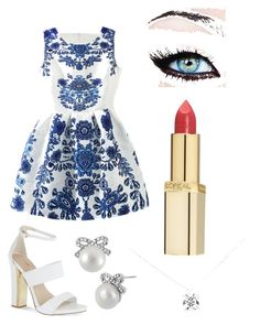 Cóctel by kikaa18 on Polyvore featuring polyvore, fashion, style, Carvela, Tiffany & Co., Betsey Johnson and L'Oréal Paris