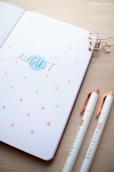 august bullet journal The month of August in your bullet journal can be represented by a number of different themes. For many people, it means the end of summer and the time to go August Bullet Journal Cover, Bullet Journal Monthly Spread, Bullet Journal Aesthetic, Bullet Journal Notebook, Bullet Journal Ideas Pages, Bullet Journal Layout, Bullet Journal Numbers, Back To School Bullet Journal, Bullet Journals