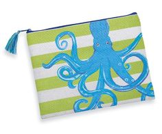 Mud Pie Nautical Icon Case Tote, Octopus