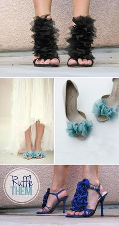 Ruffle Shoes {via My Daily Randomness}DIY Ruffle Shoes {via My Daily Randomness} Shoe Crafts, Clothes Crafts, Fashion Tips For Women, Diy Fashion, Runway Fashion, Fashion Design, Fashion Trends, Shoe Makeover, Shoe Refashion