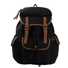 Eabag Unisex's Multi-purpose Vintage Travel & School Canvas Backpack (Black) EABAG http://www.amazon.com/dp/B00MHHX37Q/ref=cm_sw_r_pi_dp_lKy.tb0MN7KQX