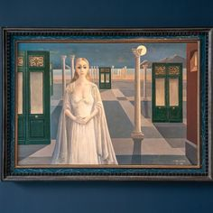 Paul Delvaux, Fantastic Art, Painting & Drawing, Disney Characters, Fictional Characters, Culture, Disney Princess, Art Paintings, Formal