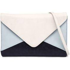 Jendi 132 Sky Clutch ($33) ❤ liked on Polyvore featuring bags, handbags, clutches, purses, bolsos, man bag, beige envelope clutch, beige handbags, foldover purse and faux-leather handbags