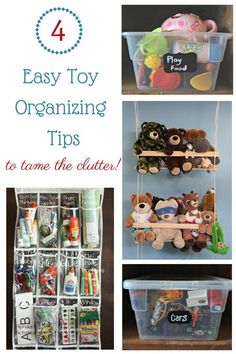 Taming the clutter of children's toys - with simple solutions!
