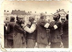289 Krosno on the Wislok. The Jews were ordered to pull at each others beards for the camera/sickening