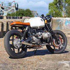 Some good lines on this recent BMW R100S build by @arjanvande