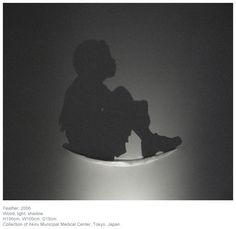 Child sitting shadow art would look darling w/ a half moon