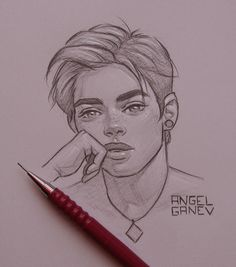 Pretteh Boii - Day by AngelGanev - Zeichnen - Art Sketches Girl Drawing Sketches, Art Drawings Sketches Simple, Boy Drawing, Portrait Sketches, Pencil Art Drawings, Cartoon Drawings, Cartoon Art, Cute Drawings, Painting & Drawing