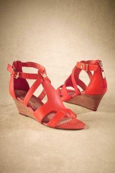 Elliott Lucca Lorena Wedges - T-strap Sandals, Wood Wedge Sandals, Heeled Wedge Sandal | Soft Surroundings