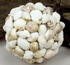 Ideas for handmade - Crafts from sea shells (15 pictures). More ideas: http://wonderdump.com/ideas-for-handmade-crafts-from-sea-shells-15-pictures/