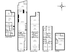 new york brownstone floor plans. modify for californiaputting