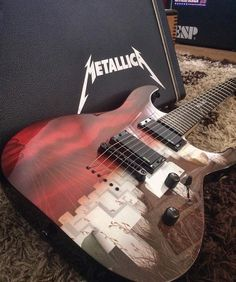 Metallica Master of Puppets guitar artwork ESP M Guitar . Visit; HeavyMetalTshirts.net for the best Metalhead Clothing Collection, Satanic Fashion and Black Metal T-Shirt Stores. . #metal #metalmusic #metalheads #metalhead #headbang #headbanger #longlivemetal #metalband #headbangers #heavymetalband #heavymetalfans #metalfans #metalmusicfans #metalfan #metallife #metallifestyle #metalmusician #metalmusicians #heavymetalfan #metalguy #metalguys #metalgirls #masterofpuppets #metallica #guitar