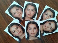 my new short hair style, pic for Italy visa...