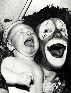 Terrifying vintage clown pics Link:   http://www.buzzfeed.com/briangalindo/21-vintage-clown-photos-that-will-make-your-skin-crawl?s=mobile#74kc9i