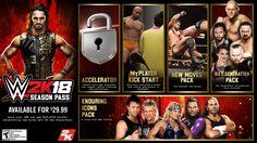 WWE 2K18 DLC And Season Pass Details Revealed - http://www.sportsgamersonline.com/wwe-2k18-dlc-season-pass-details/