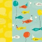 Fishy Fish Set. Surface Pattern Design. Available for licensing. Emily Ann Studio