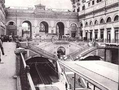metropolitana linea 2- Stazione sotterranea all' interno della vecchia struttura