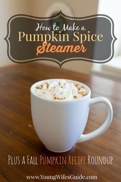 how to make a pumpkin spice steamer