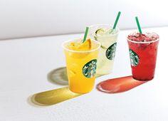 starbucks refresha - Google Search Coffee Advertising, Beverages, Drinks, Starbucks Coffee, Iced Tea, Juice, Planter Pots, Berries, Orange