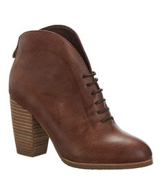 This Taupe Lace-Up Leather Bootie is perfect! #zulilyfinds