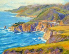 """Big Sur Moment"" - Original Fine Art for Sale - © Kim Stenberg"