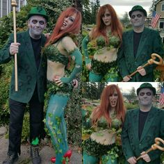 Super Realistic Zombie Poison Ivy and Zombie Riddler Costumes Poison Ivy Halloween Costume, Poison Ivy Costumes, Halloween Costumes, Homemade Costumes, Diy Costumes, Adult Costumes, Costume Ideas, Halloween 2016, Happy Halloween