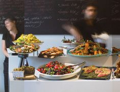 Ottolenghi is an essential stop on any of our visits to London. Whether breakfast, lunch, tea of dinner, they inevitably have a mouthwatering spread of beautiful food. We frequently refer to their cookbook for our own prepared salads.