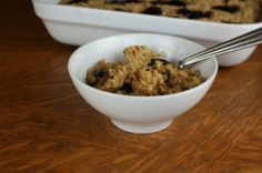 peanut butter and jelly baked oatmeal