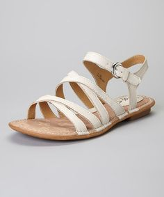 Another great find on #zulily! Sand Malay Leather Slingback Sandal #zulilyfinds