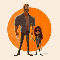Logan: The Cartoon, Sam Nassour on ArtStation at https://www.artstation.com/artwork/DogWo