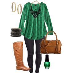 A fashion look from January 2014 featuring Mossimo blouses, H&M leggings and Madden Girl boots. Browse and shop related looks.