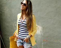 Blazer amarelo oversized - Blog de Moda e Look do dia - Decor e...