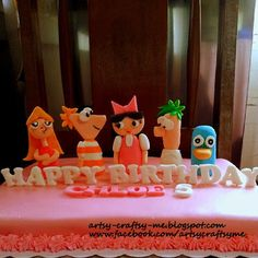 Phineas and Ferb birthday cake for girls