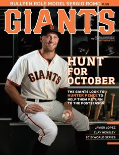 Giants Magazine (September 2012).  When the Giants traded for Hunter Pence in August 2012, they picked up a player who was leading the Philadelphia Phillies in hits, homers, RBIs, runs scored and walks.