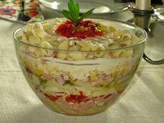 Domowe ciasta i obiady: Sałatka z szynką i makaronem Polish Recipes, Polish Food, Guacamole, Pudding, Dishes, Cooking, Ethnic Recipes, Desserts, Blog
