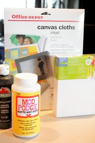Sweet Something Designs: DIY Photo Canvas (Great Gift For Mother's Day)
