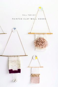 DIY Painted Clay Wall Hooks