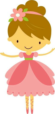 Little Ballerina Clip Art Clipart - Free Clipart Felt Dolls, Paper Dolls, Arts And Crafts, Paper Crafts, Diy Crafts, Cute Images, Cute Pictures, Ballerina Party, Cute Clipart