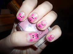 PIGS - @Allison B. - you could do this on Lydia's nails :-)