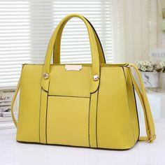 2016 New Fashion Handbags Candy Color Hand Bag Vintage Women Messenger Bags  High Quality Leather Tote Laptop Shoulder Bag 7c8724bf282e7