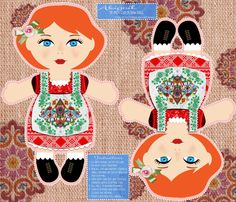 Abigail Cut n Sew Doll fabric by tiffanyhoward on Spoonflower - custom fabric