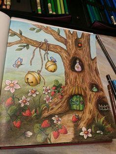 | Klára Marková  @klaramarkovajewels Coloring Tips, Adult Coloring, Fairy Sketch, Johanna Basford Coloring Book, Markova, Coloring Tutorial, Colouring Techniques, Polychromos, Coloured Pencils