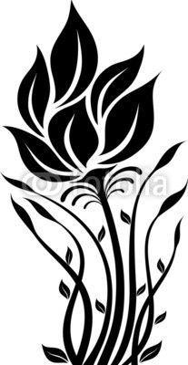 Flower black and white drawing pesquisa google artesanato flower silhouette mightylinksfo