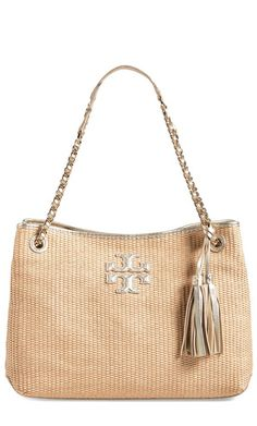 Thea Straw Tote by Tory Burch