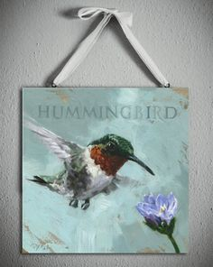 #DarrenGygiDIY is our new favorite hashtag! Love hanging prints like this #hummingbird #art on a lovely thick #ribbon to jazz things up.